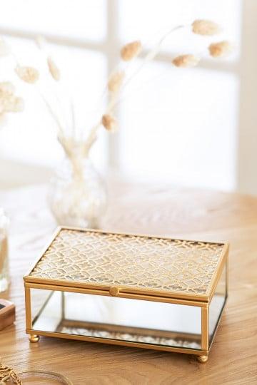 Boîte à bijoux en cristal Sofie