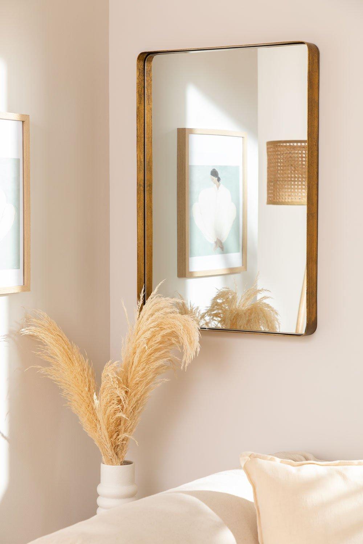 Miroir mural rectangulaire en métal Meritt, image de la galerie 1