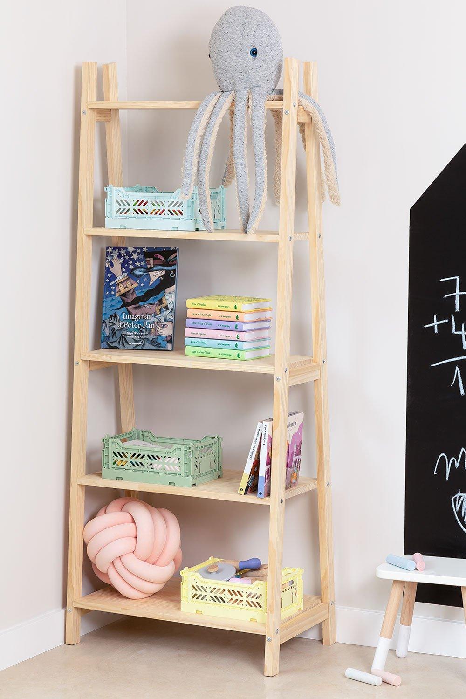 Étagère en bois pour enfants Skal, image de la galerie 1
