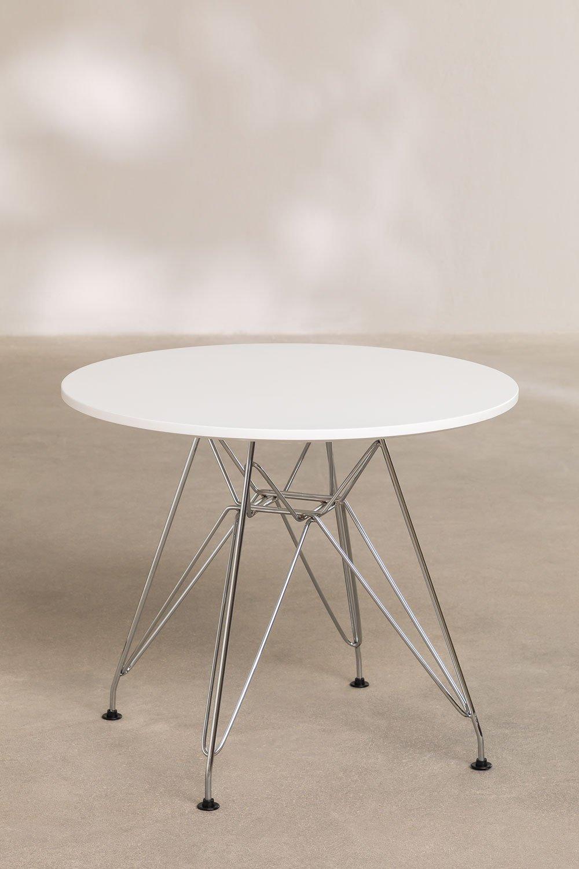 Table Scand Brich [KIDS!] Ø60 cm Métallisée, image de la galerie 1