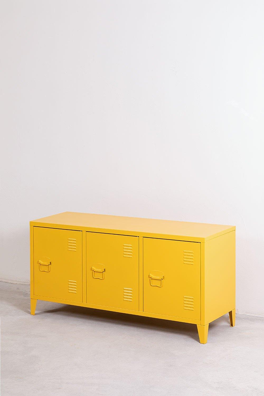 Casier de meuble TV en métal Pohpli, image de la galerie 1