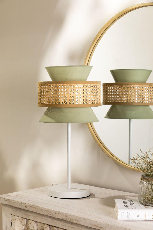 Lampe de table en rotin Yereh, image de la galerie 1