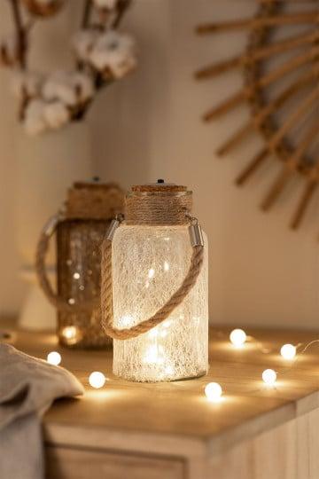 Bocal en verre avec lumières LED Gada