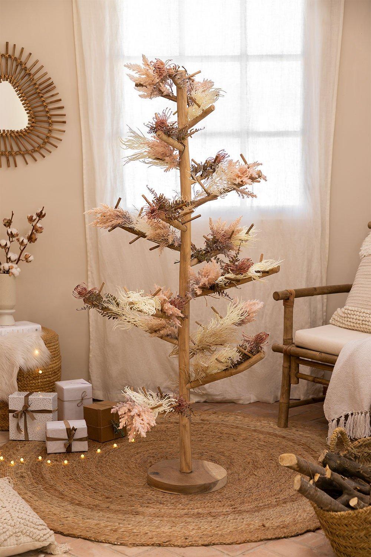 Arbre de Noël en bois de teck Abies, image de la galerie 1
