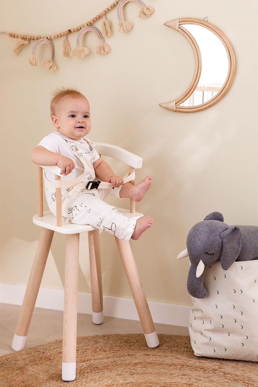 Chaise haute en bois Dil Kids, image de la galerie 1