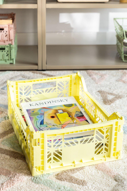 Boîte en plastique pliable et empilable Doli, image de la galerie 1
