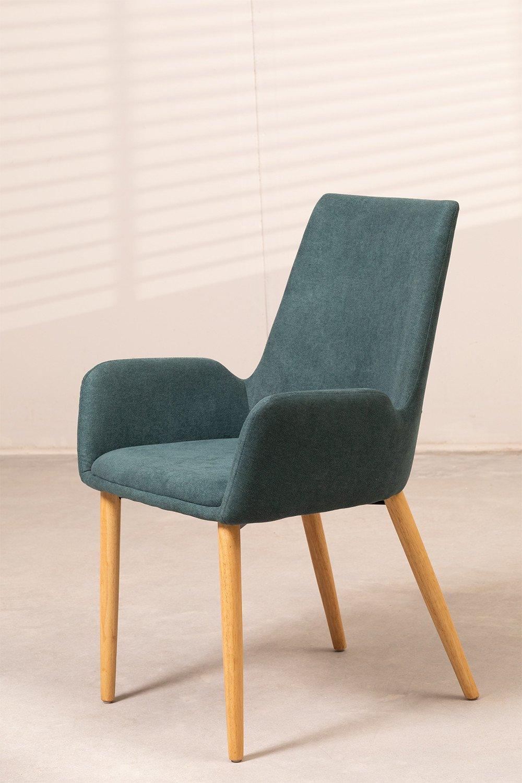 Chaise de salle à manger en bois de caoutchouc Azra, image de la galerie 1