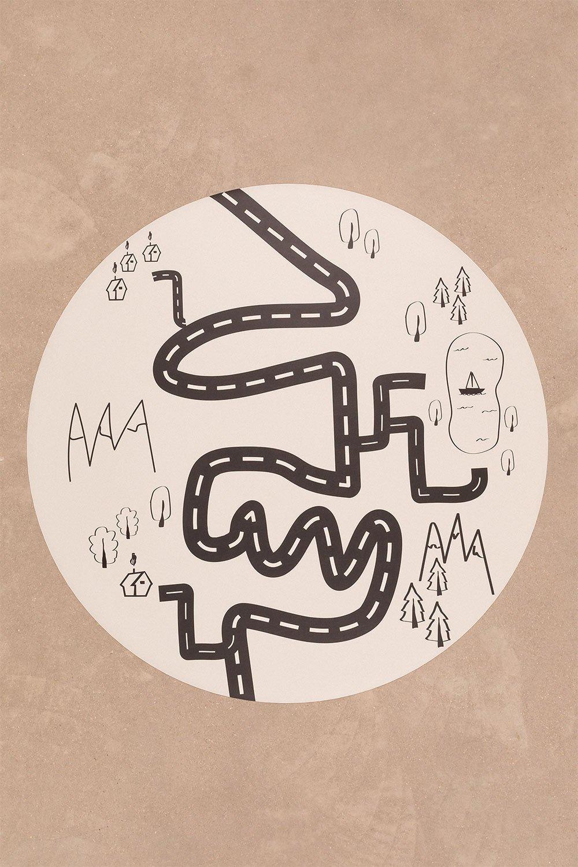 Tapis rond en vinyle (Ø150 cm) Nirar Kids, image de la galerie 1