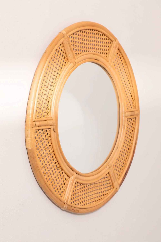 Miroir mural rond en rotin (Ø81 cm) Lopo , image de la galerie 1