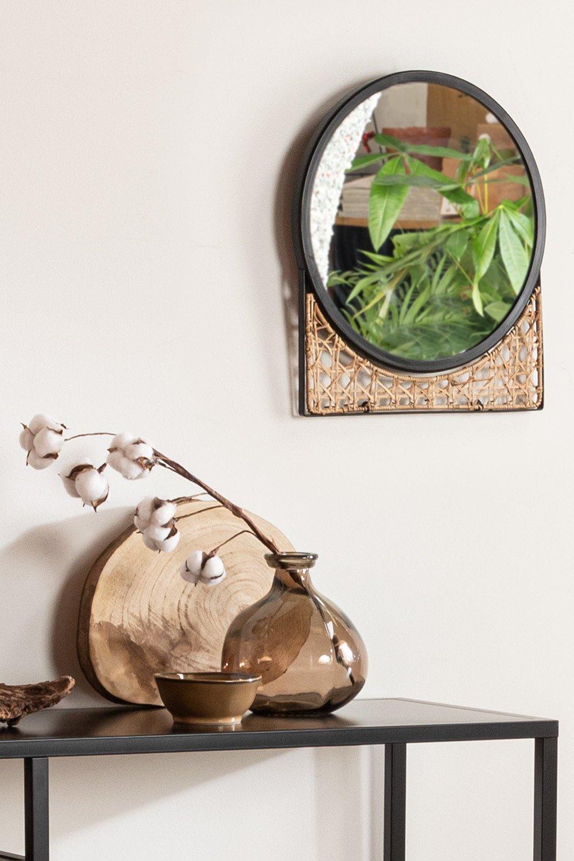 Vase en verre recyclé 21,5 cm Jound, image de la galerie 1