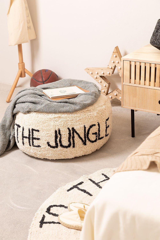 Pouf en coton pour enfants Jungle, image de la galerie 1