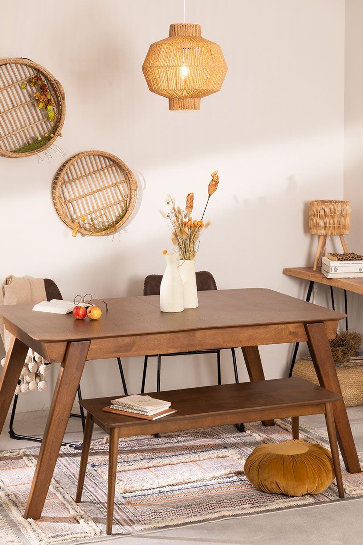 Table à manger extensible en noyer (150-180x90 cm) Aliz, image de la galerie 1