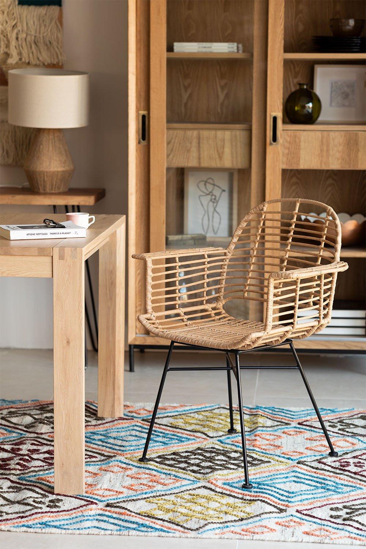 Chaise de salle à manger en rotin synthétique de style Mimbar, image de la galerie 1
