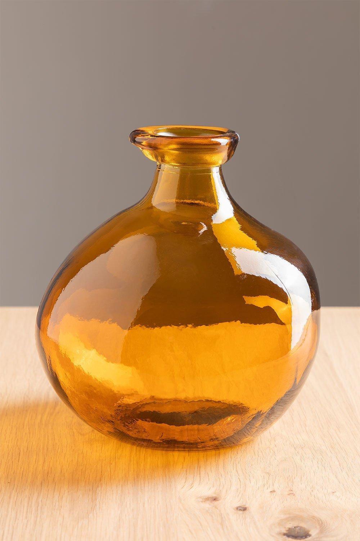 Vase en verre recyclé 18 cm Jound , image de la galerie 1