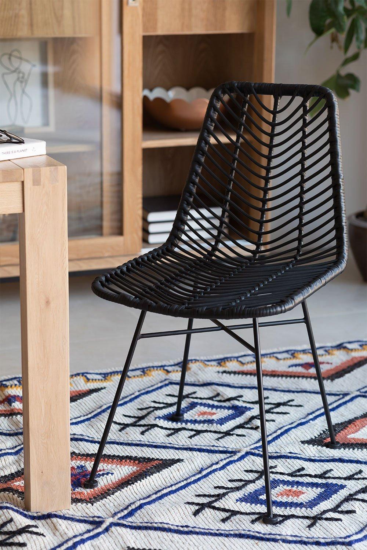 Chaise de salle à manger en rotin synthétique Gouda Colors, image de la galerie 1