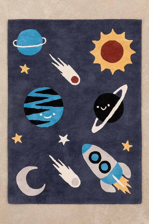 Tapis en coton (140x100 cm) Space Kids, image de la galerie 1