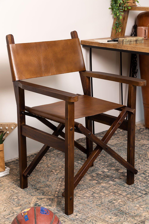 Chaise de directeur en cuir Madeo, image de la galerie 1