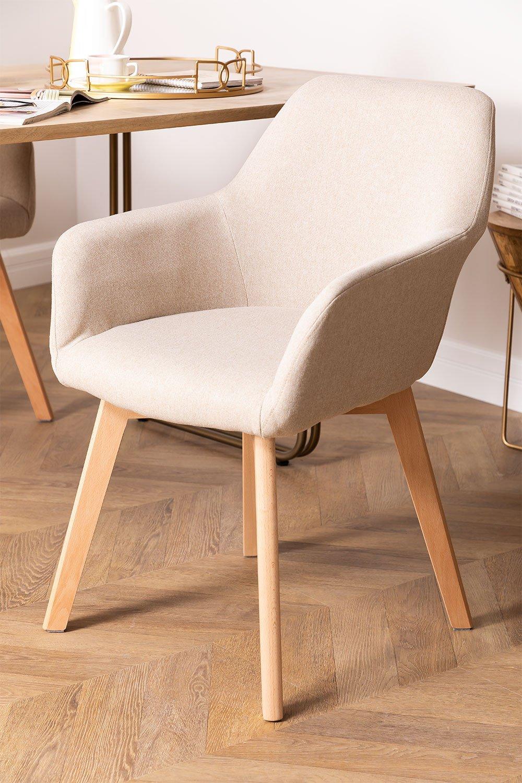 Chaise de salle à manger Ervi avec accoudoirs, image de la galerie 1