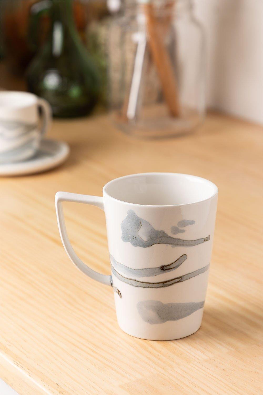 Pack de 4 mugs en porcelaine 320 ml Boira, image de la galerie 1