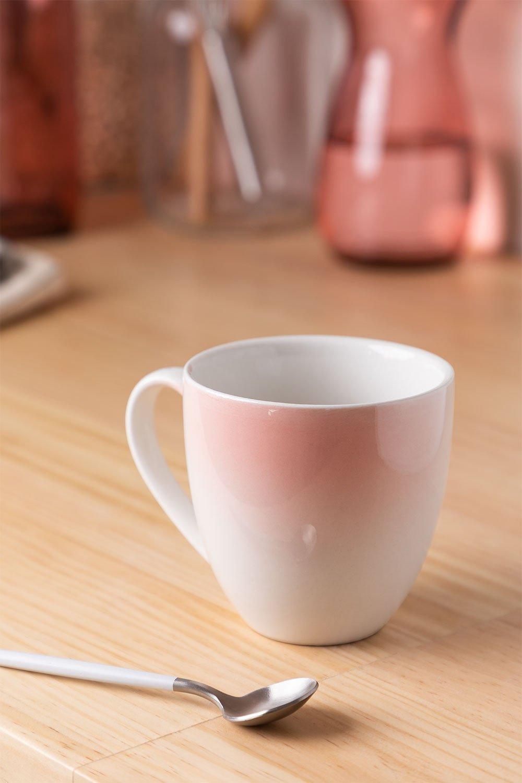 Pack de 4 tasses en porcelaine 300 ml Suni, image de la galerie 1