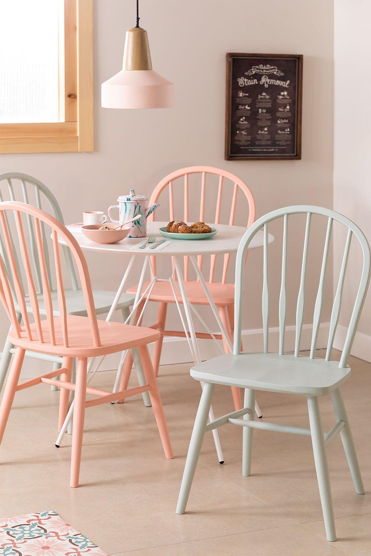 Chaise de salle à manger en bois Lorri Colors, image de la galerie 1