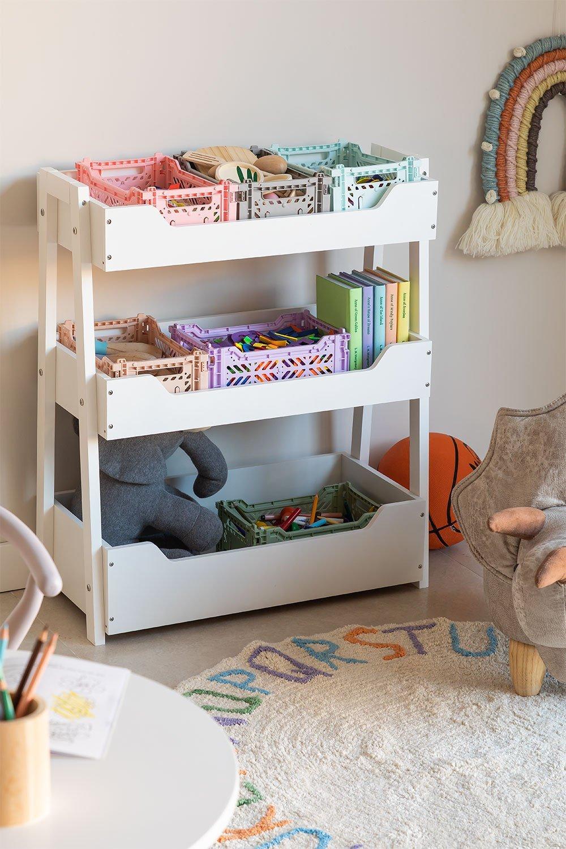 Armoire de rangement de jouets en bois pour enfants Rielle, image de la galerie 1