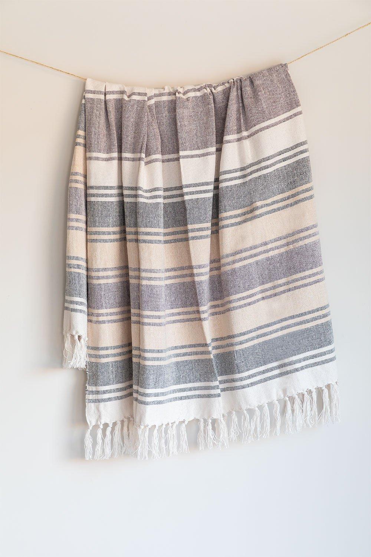 Couverture en coton à carreaux Kasku, image de la galerie 1