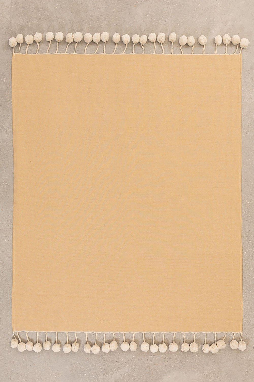 Couverture en coton à carreaux Olis, image de la galerie 1