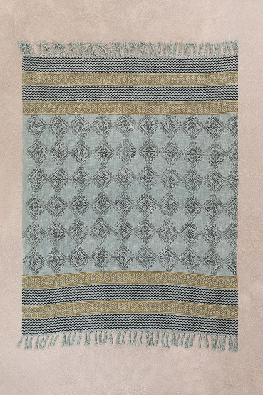 Couverture à carreaux en coton Karelis, image de la galerie 1