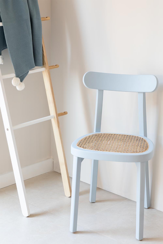 Chaise de salle à manger en bois Alena, image de la galerie 1