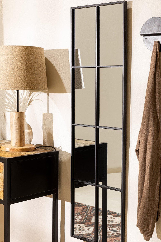 Miroir mural effet fenêtre en métal (132x38 cm) Rania, image de la galerie 1