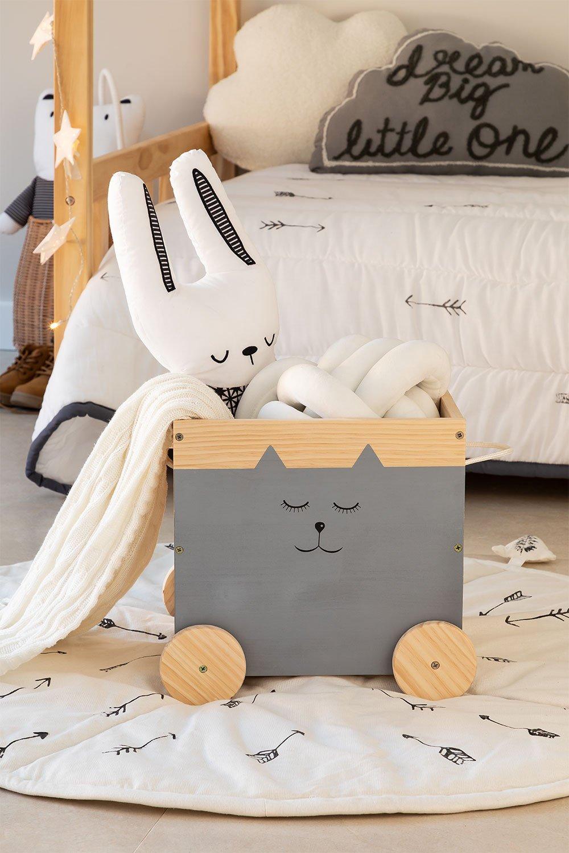 Chariot de rangement en bois pour enfants Madys, image de la galerie 1