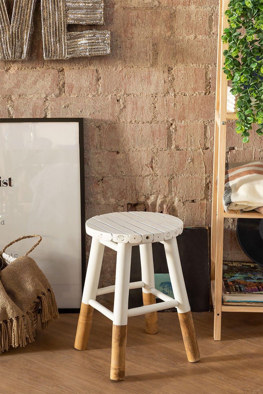 Tabouret bas en bambou Dipeado Warpol, image de la galerie 1