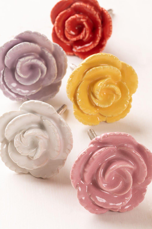 Lot de 2 poignées en céramique rose, image de la galerie 1