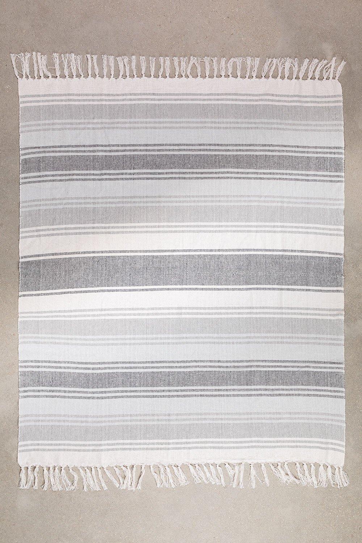 Couverture à carreaux en coton Tieron, image de la galerie 1
