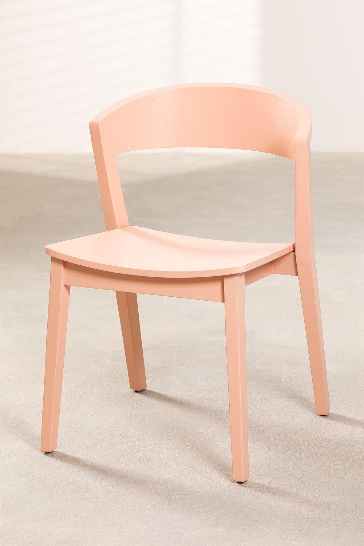Chaise empilable en bois de gingembre, image de la galerie 1
