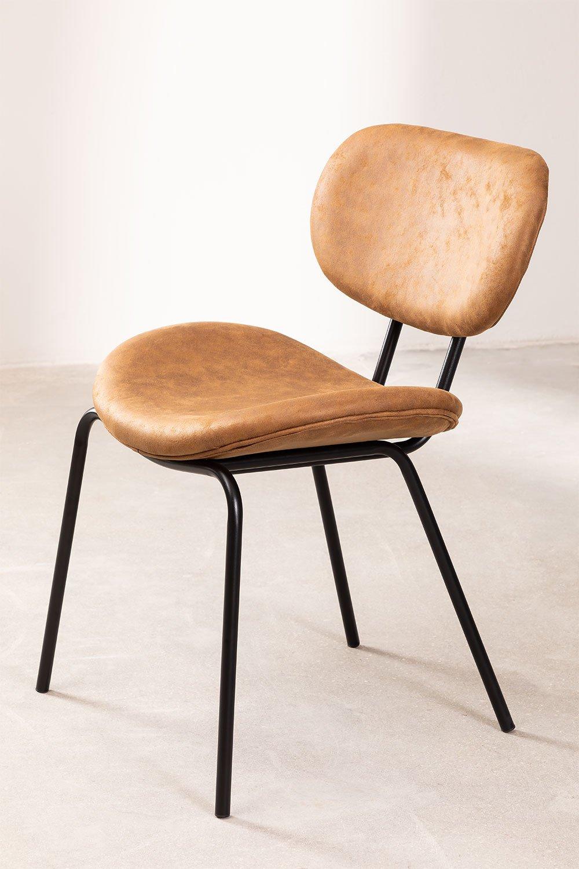 Chaise de salle à manger en similicuir Abix, image de la galerie 1