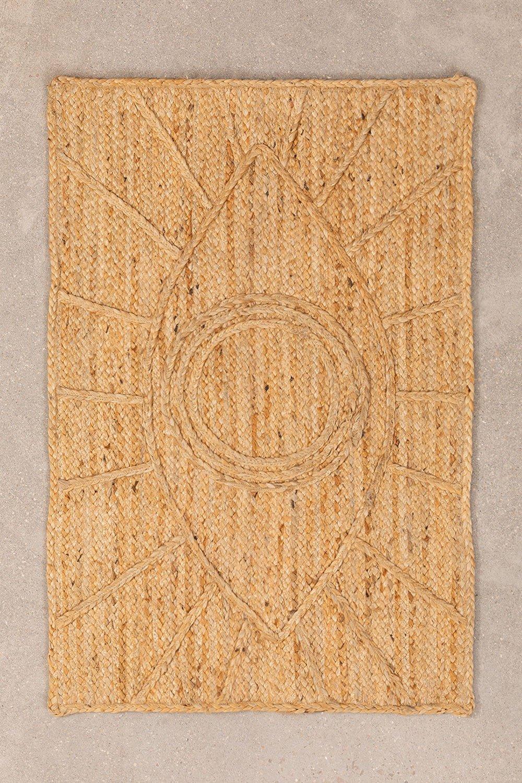 Paillasson tressé XL en Jute (90x60 cm) Elaine, image de la galerie 1