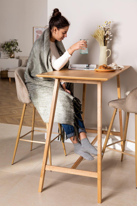 Table haute en bois Kerhen, image de la galerie 1