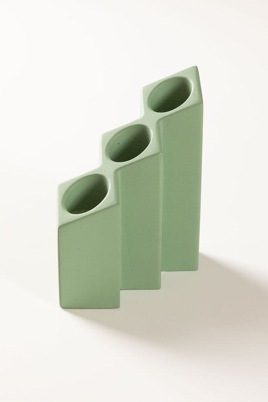 Bougeoir en ciment Yotuel, image de la galerie 1