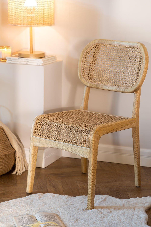 Chaise de salle à manger en bois d'orme Asly, image de la galerie 1