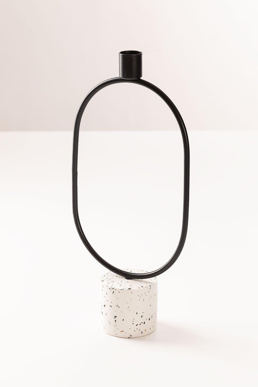 Bougeoir Jedder en ciment et métal, image de la galerie 1
