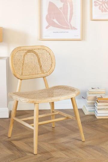 Chaise de salle à manger en bois Leila Elm