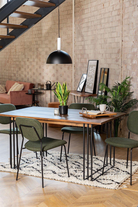 Table à manger rectangulaire en manguier (150x90 cm) Betu, image de la galerie 1