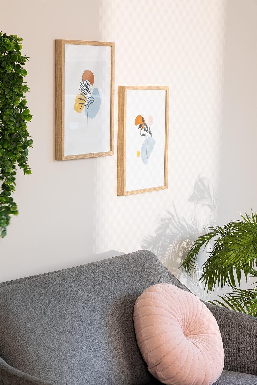 Lot de 2 feuilles décoratives Gerb (30x40 cm), image de la galerie 1