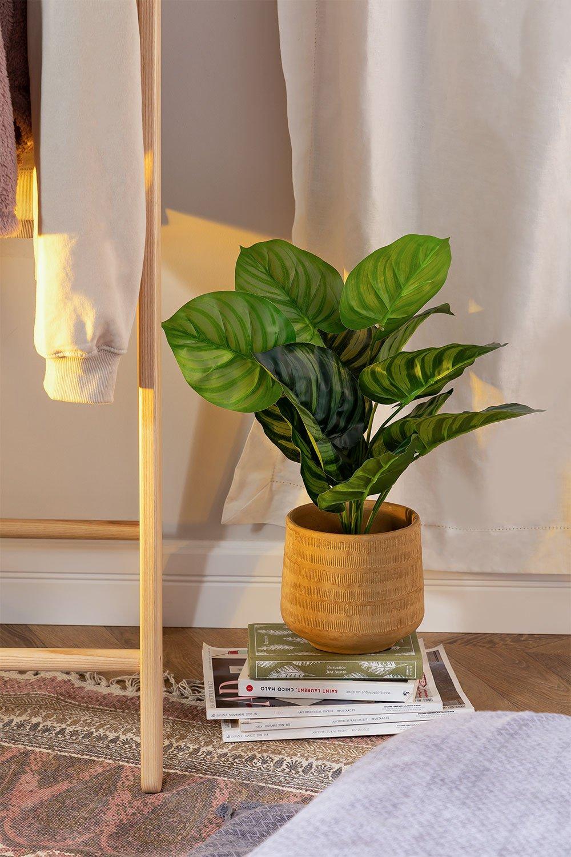 Plante artificielle décorative Calatea, image de la galerie 1