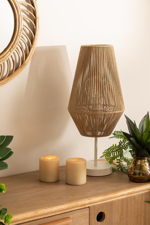Lampe de table en corde de nylon Uillo, image de la galerie 1