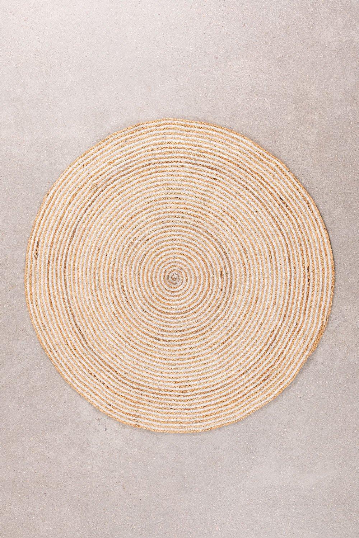 Tapis rond en jute naturel (Ø120) Crok, image de la galerie 1