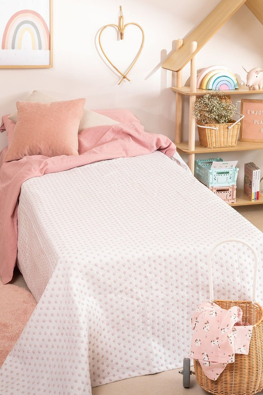 Couvre-lit en coton (180x260 cm) Kimba, image de la galerie 1