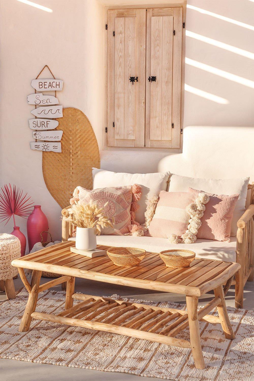 Table basse de jardin en bois de teck Narel, image de la galerie 1